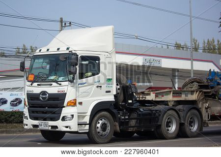 Hino Trailer Truck Of Right Tunnelling Transport Company.