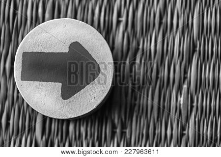 Monochrome Traditional Thai Style Nature Background Of  Handicraft Weave Texture Wicker Surface For