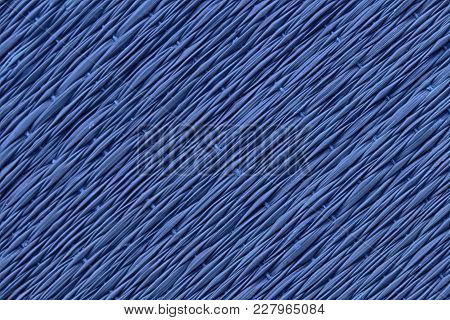 Blue Traditional Thai Style Nature Background Of Brown Handicraft Weave Texture Wicker Surface For F