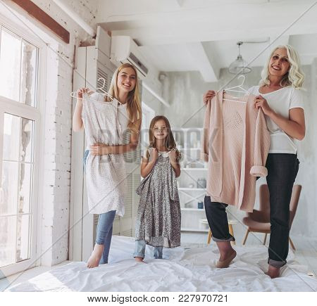 Daughter, Mother And Grandmother At Home