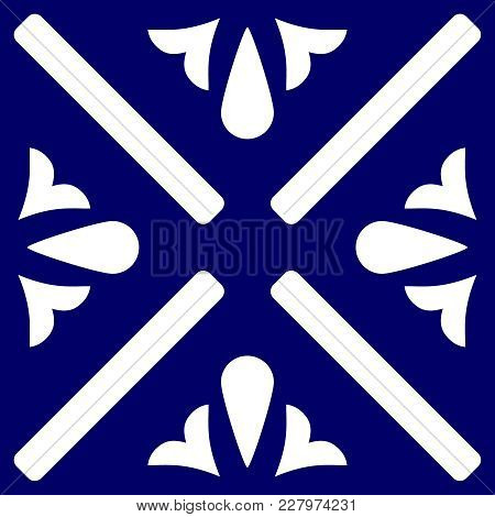 Tile Indigo Blue And White Decorative Floor Tiles Vector Pattern Or Seamless Background