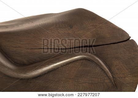 A Product Made From The Roots Of An Old Oak Tree On A White Background. Isolated Image.