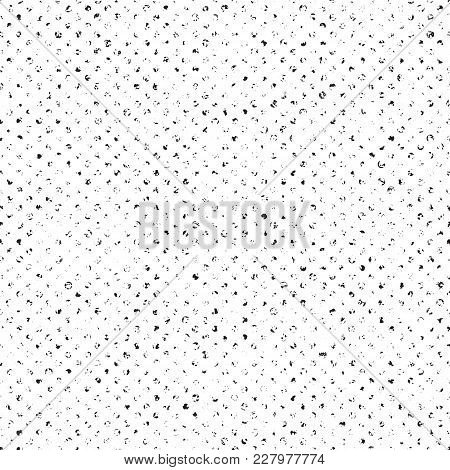 Ditsy Subtle Dot Halftone Seamless Vector Pattern. Distressed Shading Light And Delicate Texture For