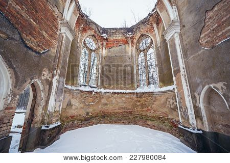 Destroyed St Anthony Church In Jalowka, Small Village In Podlasie Region Of Poland