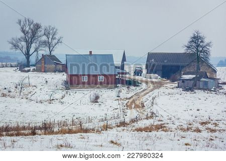 Farm In Dublany, Small Village In Podlasie Region Of Eastern Poland