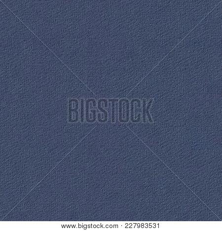 Blue Paper Texture For Background, Detailed Structure. Seamless Square Texture. Tile Ready.