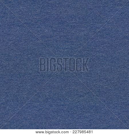 Photograph Of Navy Blue Striped Pastel Paper, Coarse Grain Grunge Texture Sample. Seamless Square Ba