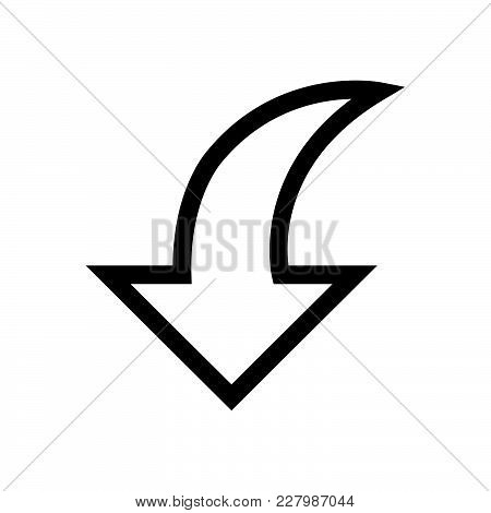 Down Arrow Icon Isolated On White Background. Down Arrow Icon Modern Symbol For Graphic And Web Desi