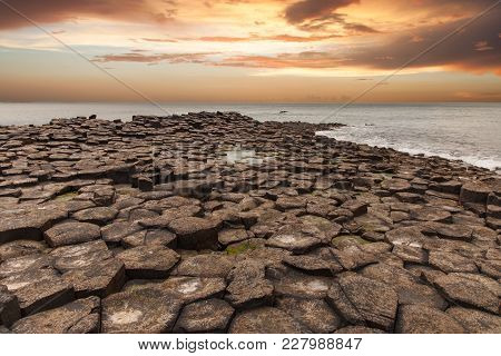 According To Legend, The Interlocking Basalt Columns Are The Remains Of A Causeway Built By Legendar
