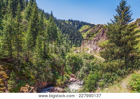 Mountain Gorge On The Plateau Of Assy. Kazakhstan, Almaty Region.