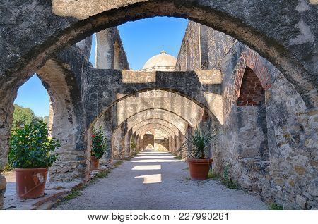 Archways At The Mission San Jose In San Antonio Missions National Historic Park, Texas
