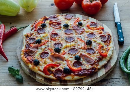 Rustic Pizza With Sausage