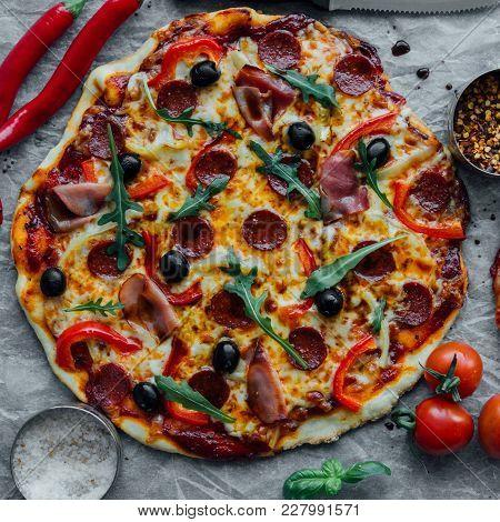 Rustic Sausage Pizza