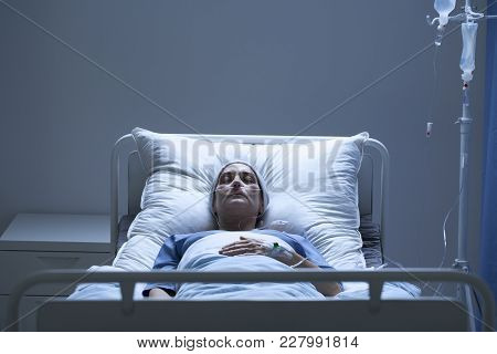 Weak Woman During Chemotherapy