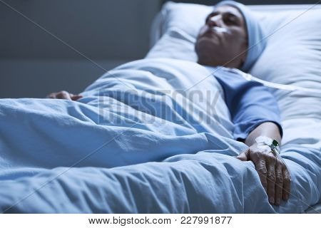 Dying Woman Suffering From Pain