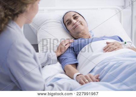 Smiling Senior Woman With Tumor
