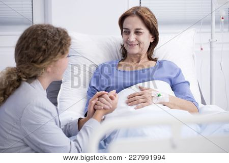 Elderly Woman And Caring Daughter