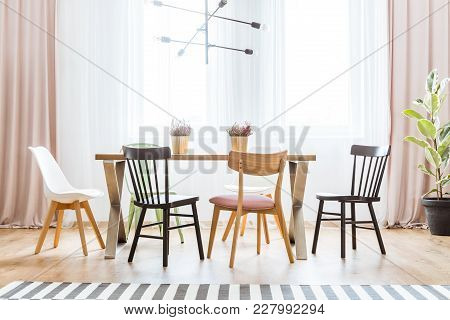 Bright Pastel Dining Room
