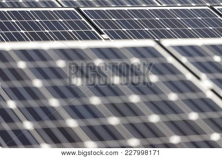 Photovoltaic Panels, Alternative Renewable Energy - Close Up Of Solar Battery Panels.