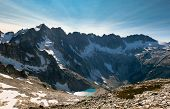 Mt Fury Luna Lake and The Northern Pickets. North Cascades National Park, Washington poster
