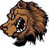 Cartoon Mascot Image of a Black Bear Head poster