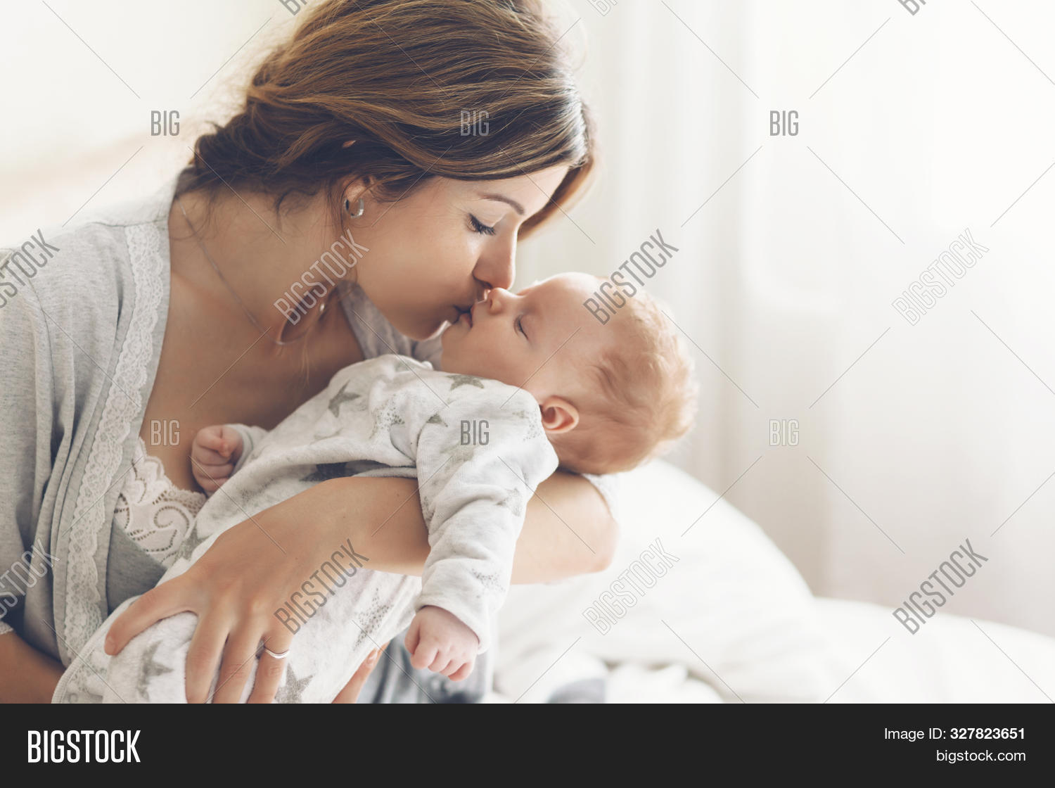 Loving Mom Carying Her Image Photo Free Trial Bigstock