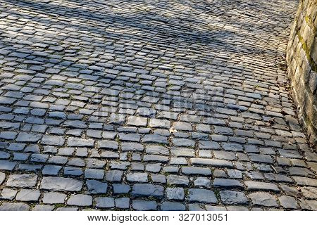 Detail Of The Famous Cobblestone Road Muur Van Geraardsbergen Located In Belgium. On This Road Every