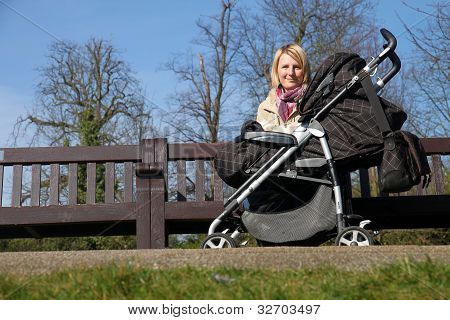 Mother with child in the park