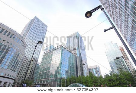 Skyscrapers Office Building Cityscape In Docklands London Uk