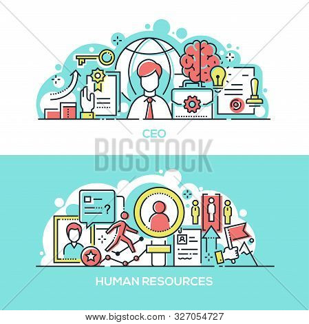 Company Ceo And Human Resources Banner Template