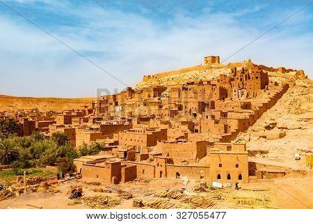 Unesco Heritage Ait Ben Haddou Kasbah In Morocco. Tourist Attraction