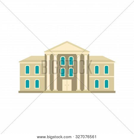 Supreme Courthouse Icon. Flat Illustration Of Supreme Courthouse Vector Icon For Web Design