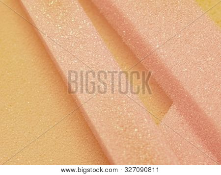 White Pink Artificial Foam, Foam Texture On A Light B.ackground