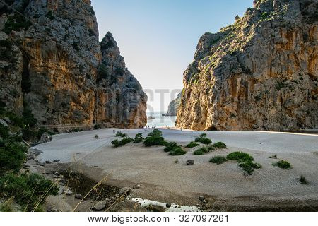 Torrent De Pareis Beach, Sa Calobra In Mallorca, Spain, Most Beautiful Beach