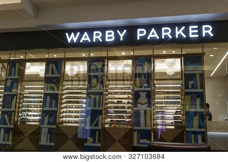 Indianapolis - Circa September 2019: Warby Parker Retail Glasses Store. For Every Pair Of Warby Park