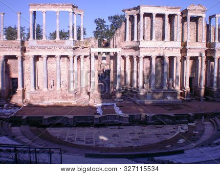 Roman Theater Dated In The First Century In Augusta Emerita Enclosure To Interpret Greek And Latin D