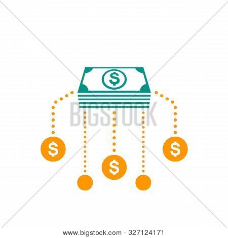 Financial Assets Diversification, Interest Return, Income, Investments Icon