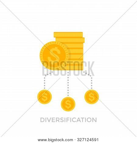 Financial Diversification Vector Icon, Eps 10 File, Easy To Edit