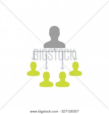 Delegation, Delegating Work Vector Illustration, Eps 10 File, Easy To Edit