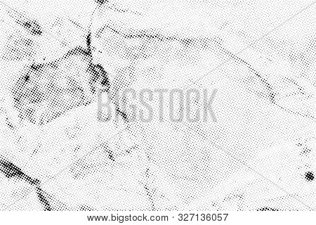 Subtle Halftone Vector Marble Texture Overlay. Monochrome Abstract Splattered Background.