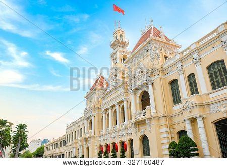 Ho Chi Minh City, Vietnam - April 29, 2018 : Ho Chi Minh City Hall