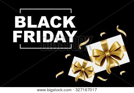 Gift Box Black Friday Sale. Black Friday.  Gift Box Trendy And Modern Gift Box Black Friday For Logo