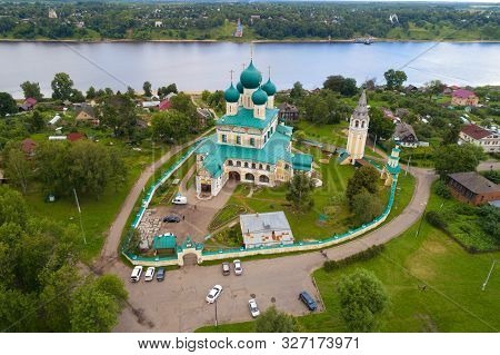 View Of The Resurrection Cathedral On A July Cloudy Day (aerial Photography). Tutaev (romanov-boriso