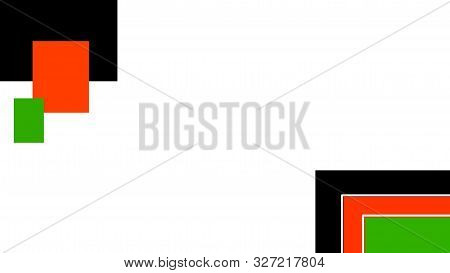 Nairobi, Kenya - October 11: Abstract Background With Kenya Flag Colors And White Space Designed On