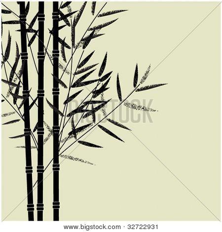 art sketching set of vector bamboo symbols