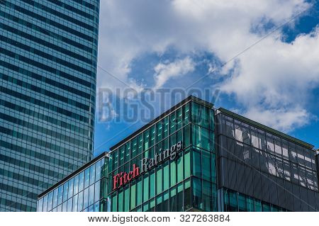 Canary Wharf London. 23 May 2019. A View Of The Fitch Ratings Office In Canary Wharf In London