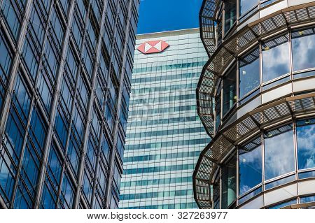 Canary Wharf London. 23 May 2019. A View The Hsbc Head Office In Canary Wharf In London