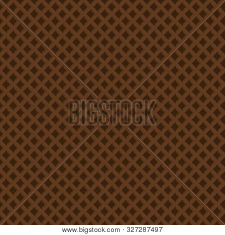 Seamless Pattern Of Chocolate Brown Crispy Waffles Texture.