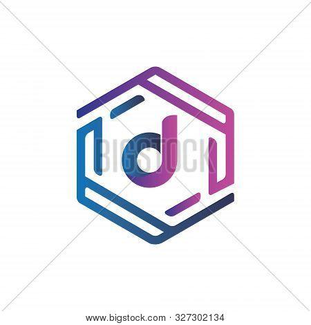 Creative And Modern Hexagon D Letter Logo Or T Shirt Design Template  Vector Eps