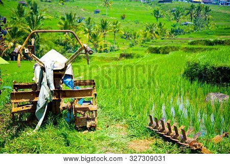 Old Metal Rice Paddy Tiller - Indonesia
